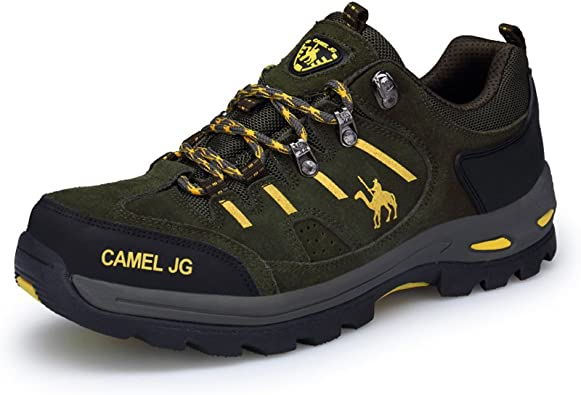 F1rst Rate Hiking Boots Trekking Shoes Men Non Slip Fur Lined Suede Climbing Sneaker