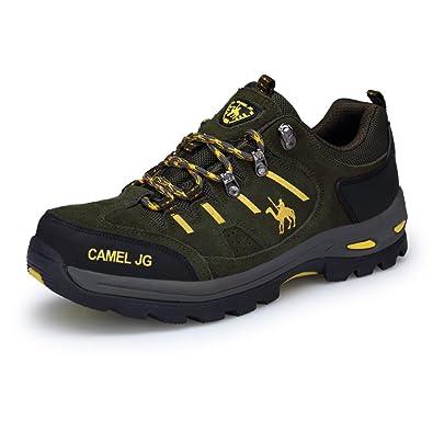 Gomnear Herren Wanderstiefel Trekking Schuhe Niedrige Oberseite Non slip Wildleder Wasserdicht Gehen Klettern Sneaker Brown-48 TAS9sfC2e