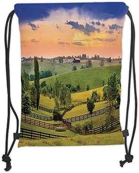 Landscape Drawstring Backpack Rucksack Shoulder Bags Training Gym Sack For Man And Women