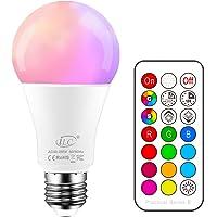 iLC Bombillas Colores RGBW LED Bombilla Regulable Cambio de Color Edison 10W E27…