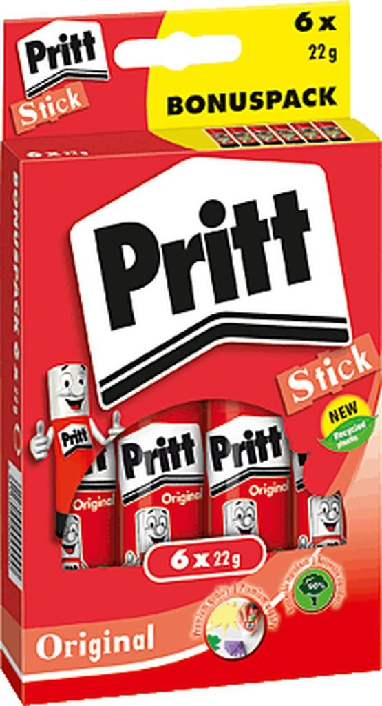Pritt – Colla stick Multipack 5 + 1 x 22 g/ps6bf INH.6 x 22 g