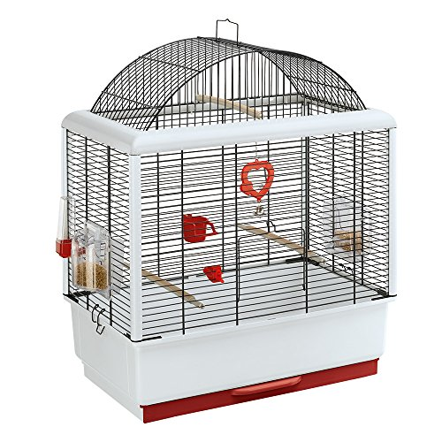 Ferplast Palladio 3 Bird Cage, 49 x 30 x 64 cm, Black