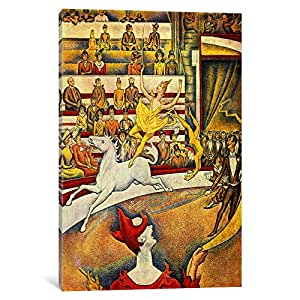 iCanvasART The Circus by Georges Seurat Canvas Art Print, 40 by 26-Inch