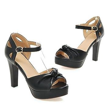 Chaussures femme à Talons aiguilles Sandales Plate forme bout qqYvrxdnw
