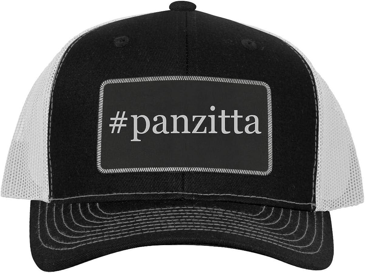 One Legging it Around #panzitta Leather Hashtag Black Patch Engraved Trucker Hat
