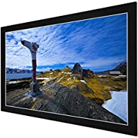 GHP 16:9 Matte White Screen 87x49 Aluminum Frame Fixed Frame Projection Screen