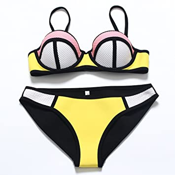 YONGYI Europa y el verano en la playa bikini de neopreno occidental T traje de baño
