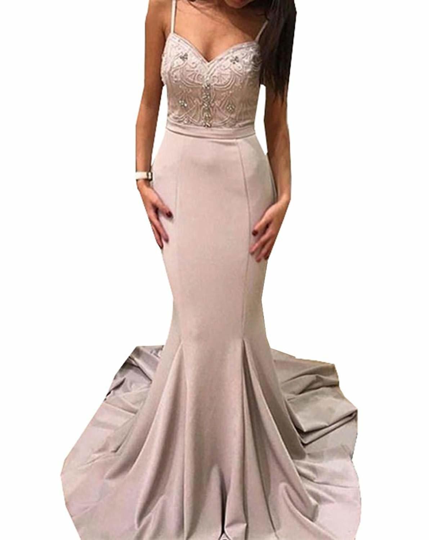 Venus Bridal Damen Meerjungfrau Spitze Spitze Partykleid Einfache Trompete Abendkleid Spitze Spitze Abendkleid Foto Farbe1 25761c