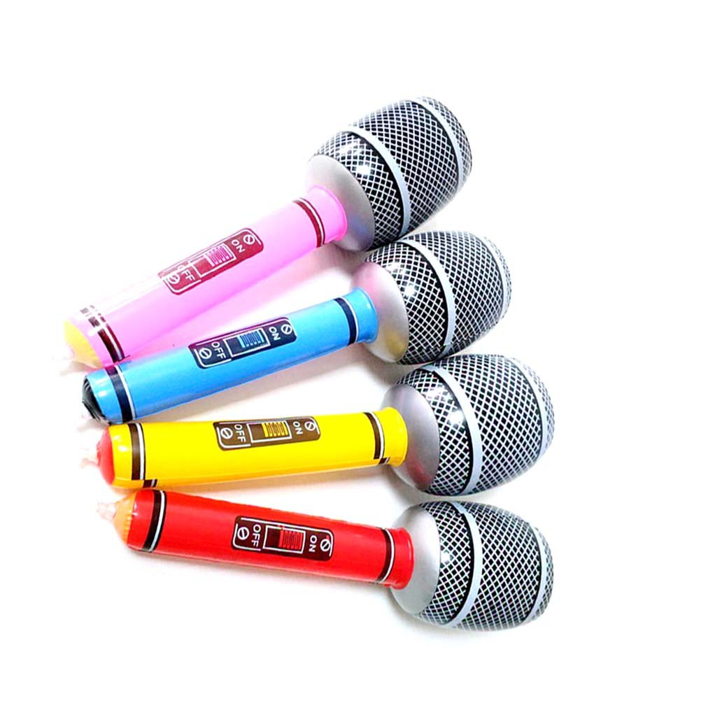Toyvian 12pcs micrófono Hinchable para Swimmig Piscina Playa ...
