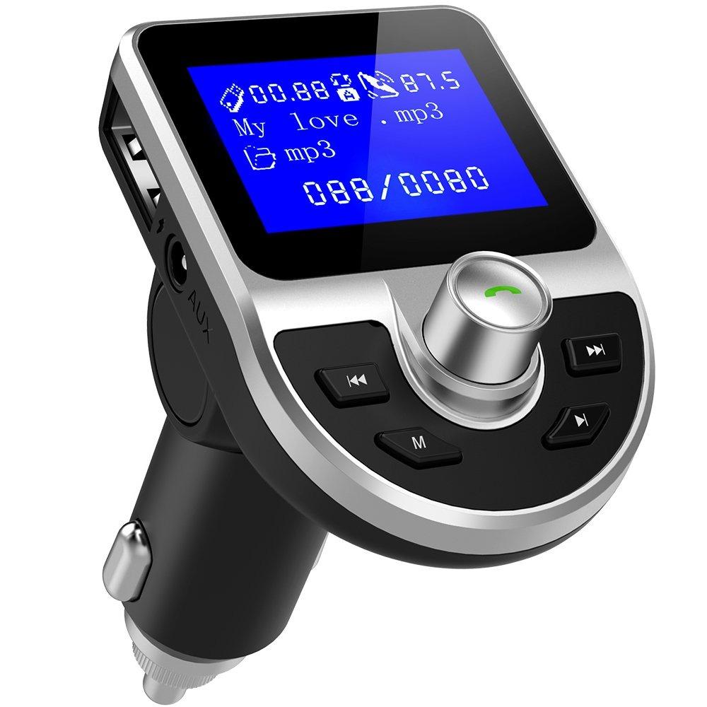 Transmisor FM Bluetooth DeFe Manos Libres Bluetooth Transmisor FM Coche Radio Receptor