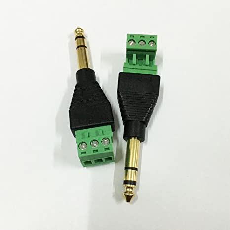 Cables 6.35mm TS Mono Male Plug Headphone Audio Connector For Speaker Cables Sna