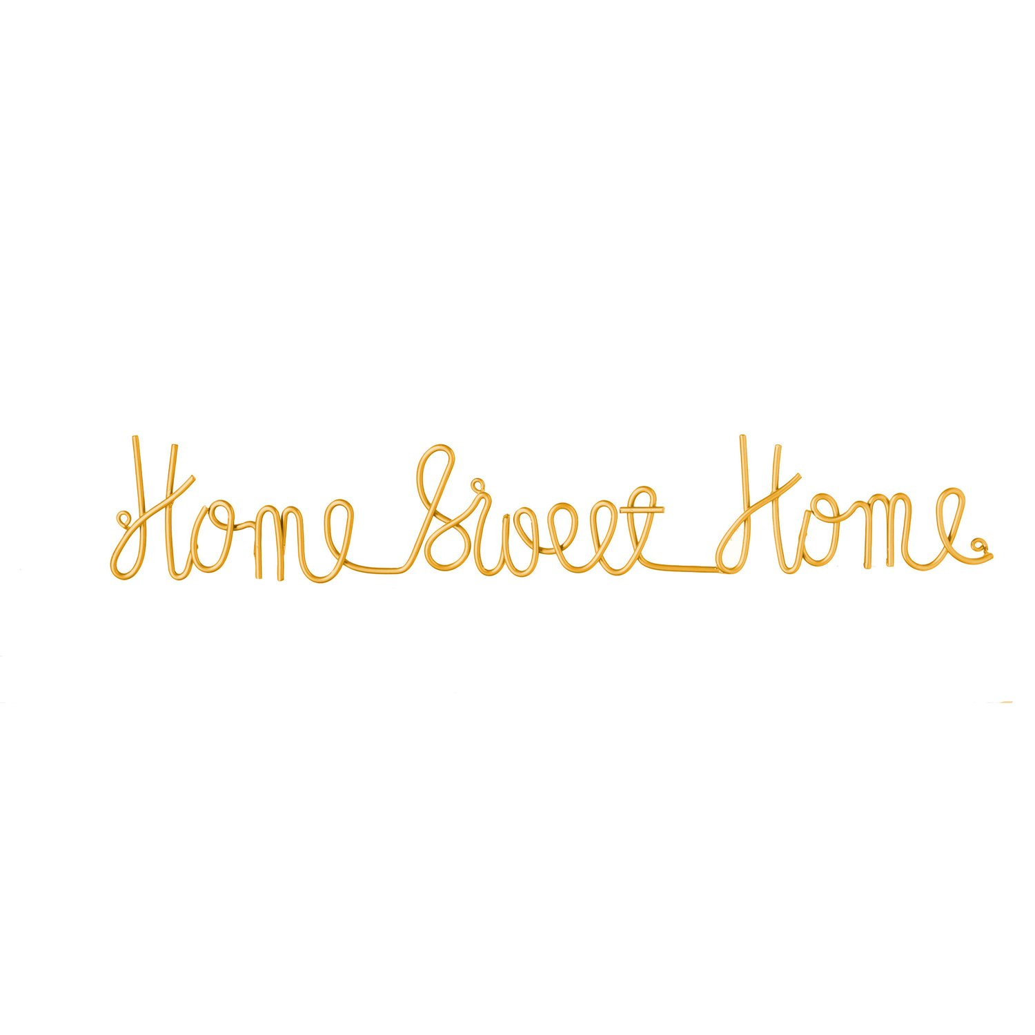"Cape Craftsmen Home Sweet Home 3-D Cursive Metal Wall Décor 30"" in Length x 1"" Depth x 5"" Height"
