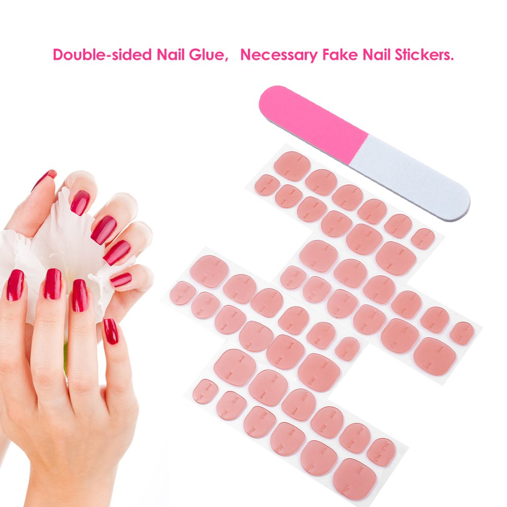 Amazon.com : Anself 48pcs Double-sided Nail Glue Sticker Jelly ...