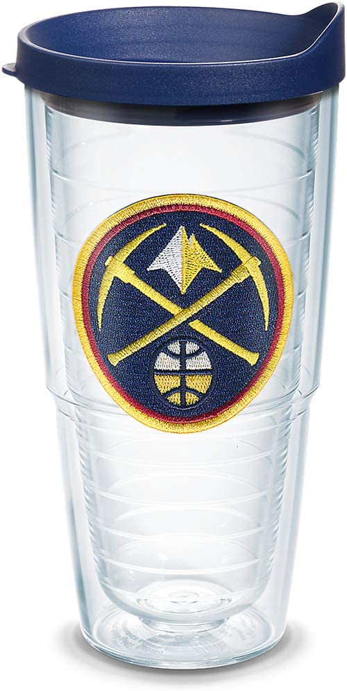 Tervis NBA Denver Nuggets Primary Logo Insulated Tumbler with Emblem and Navy Lid 16oz Mug Clear