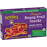 Annies Organic Bunny Fruit Snacks, Berry Patch, 5 Pouches, 4 oz. Each (Pack of 4)