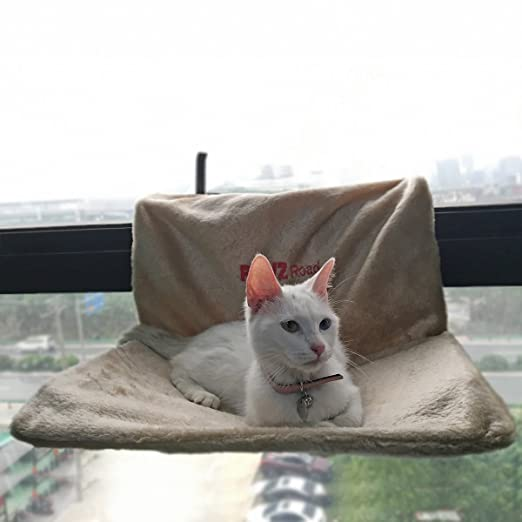 amazon     pawz road cat radiator bed cat hammock with stable frame super soft install easy multifunctional cat bed beige   pet supplies amazon     pawz road cat radiator bed cat hammock with stable      rh   amazon