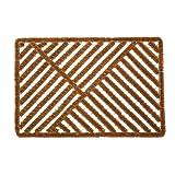Natural Coir Outdoor Boot Scraper Doormat, 24x36'', Heavy Duty Entry Way Shoes Scraper Patio Rug Dirt Debris Mud Trapper Waterproof