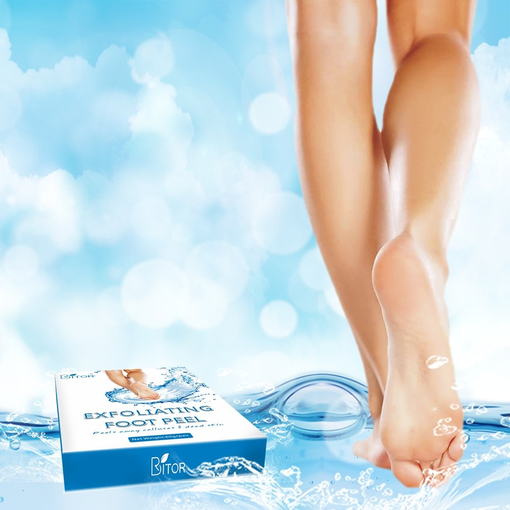 Foot Peel Mask(2 pair) with a Gift(1 pair of Moisturizing Foot Mask), Exfoliating Dead Skin Remover by BRITOR by BRITOR (Image #7)