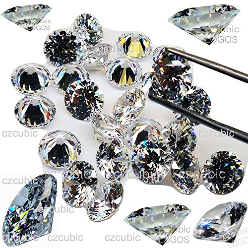 Cubic Zirconia/CZ Clear Each 5 PCS Round Cut/Shape Cubic Zirconia/White CZ Loose Stones 5A/AAAAA (NOT 3 A/AAA) Synthetic Fake Diamond in U.S Shipper (3.00 MM - 5 PCS)