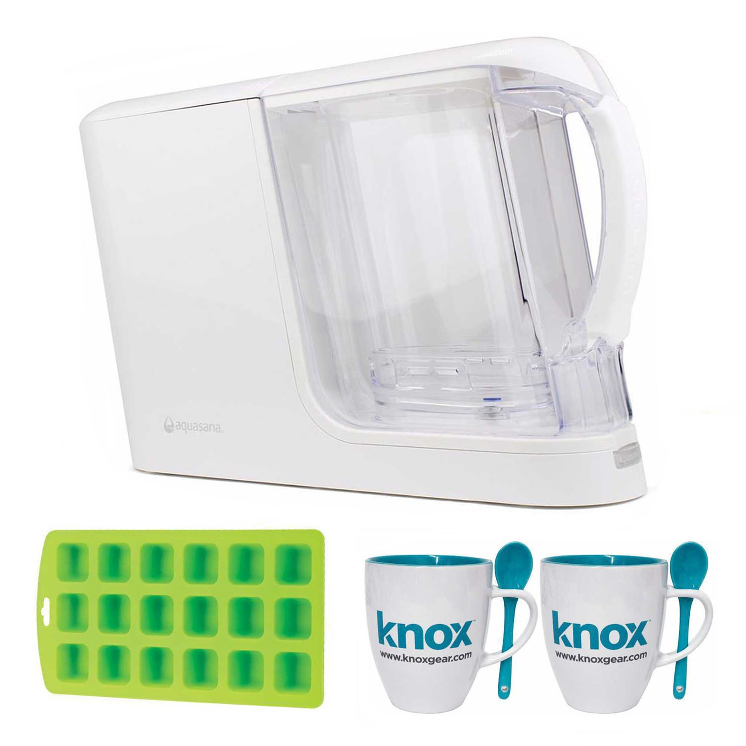 Aquasana AQ-CWM-P-W Clean Water Machine, Mugs and Ice Cube Tray
