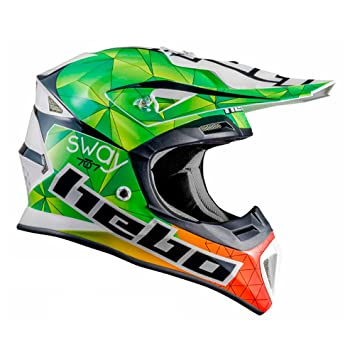 HEBO Enduro MX Sway Casco, verde, Talla L