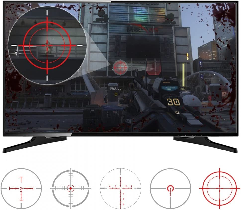 Amazon com: eXtremeRate FastScope No Scope TV Decal for FPS