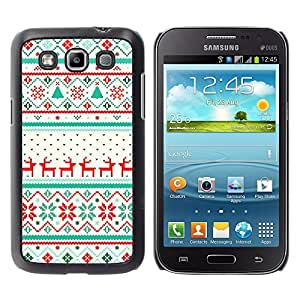 For Samsung Galaxy Win / I8550 / I8552 / Grand Quattro Case , Winter Pattern Reindeer Sweater - Diseño Patrón Teléfono Caso Cubierta Case Bumper Duro Protección Case Cover Funda