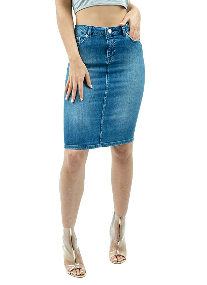 ef5e64c952 Denim Midi Skirt Shopstyle | Saddha