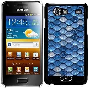 Funda para Samsung Galaxy S Advance (i9070) - Azul Patrón De Escalas Con Gas by UtArt