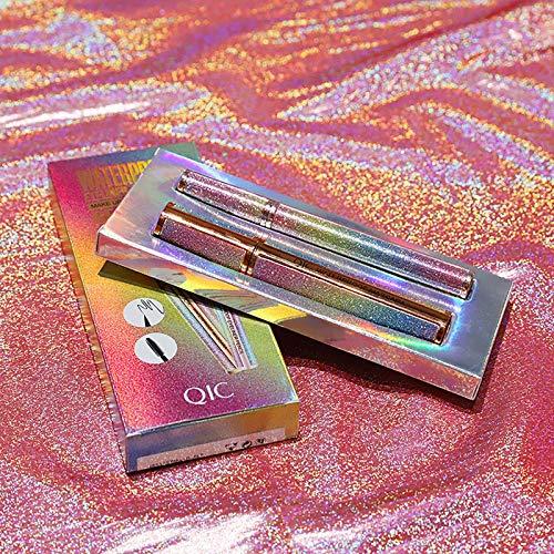 4D Mascara Wimperntusche Kit Silk Fiber Wimperntusche Mascara mit Kajalstifte Sternenhimmel Wasserdicht Schnell Trocknend Langlebig