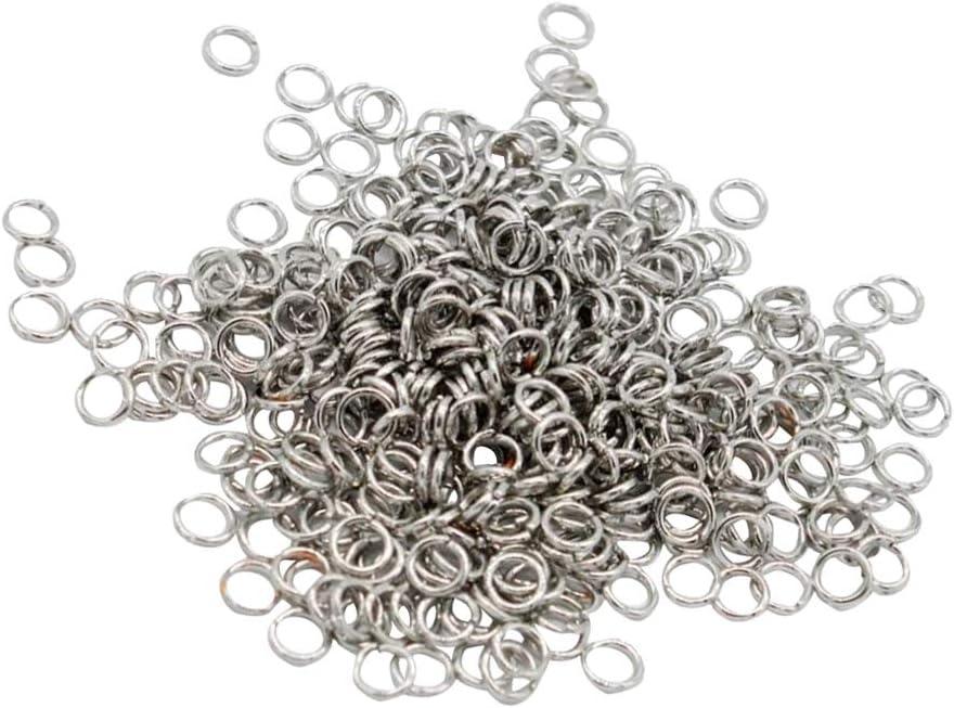 4mm 500Pcs Metal Split Jump Rings Open Connector DIY Jewelry Finding