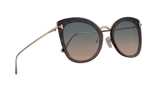 df4fd74f05 Amazon.com  Tom Ford FT0657 Charlotte Sunglasses Blonde Havana w ...
