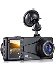 """Dash Cam, OKEEY Cámara de Coche 1080P Full HD 3.0"""" LCD Dashcam 170°Ángulo Cámara para Coche G-Sensor WDR Detección de Movimiento y Grabación en Bucle con Visión Nocturna"""