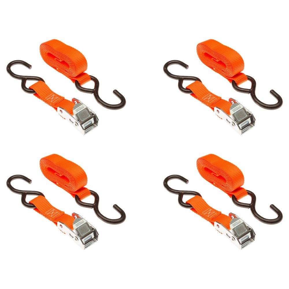 Discount Ramps Rage Powersports VH-Strap-C-O Cargo Tie-Down Strap (1' x 72' Orange Cam Buckle 4-Pack)