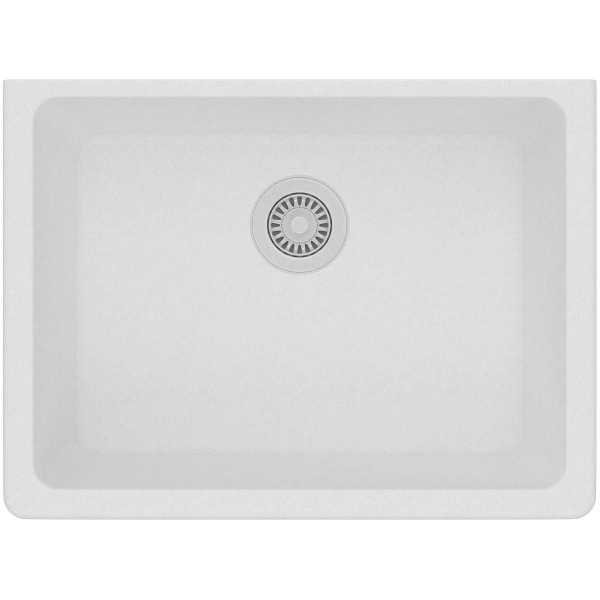 Elkay Quartz Classic ELGU2522WH0 Single Bowl Undermount Sink, White by Elkay