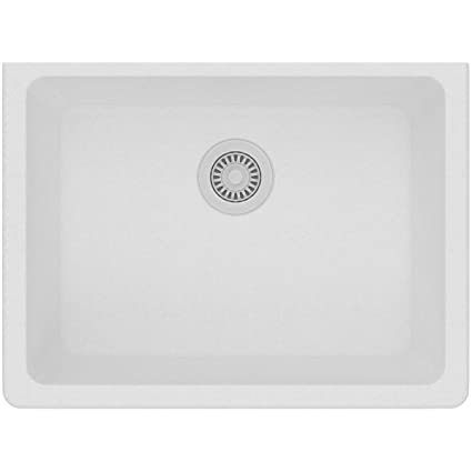 Elkay Quartz Classic ELGU2522WH0 White Single Bowl Undermount Sink
