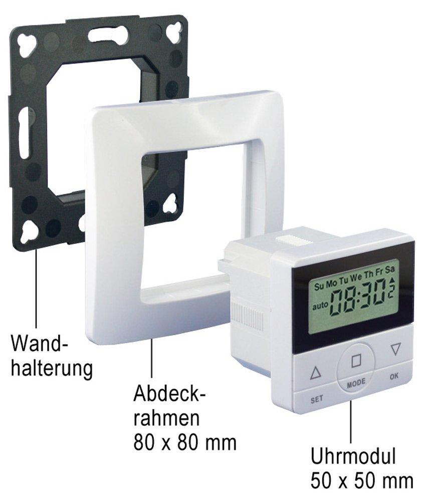 Zeitschaltuhr Uhr CasaSpirit für Rolladen Jalousie Rollo GIRA Zwischenrahmen