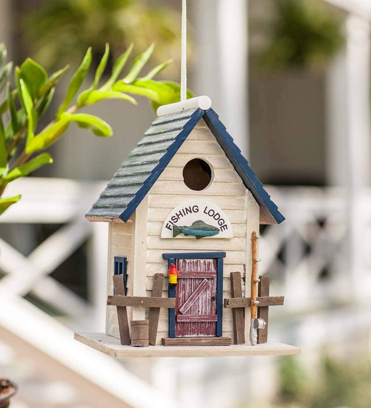 Home Bazaar HB-6022S Fishing Lodge Birdhouse, Multi