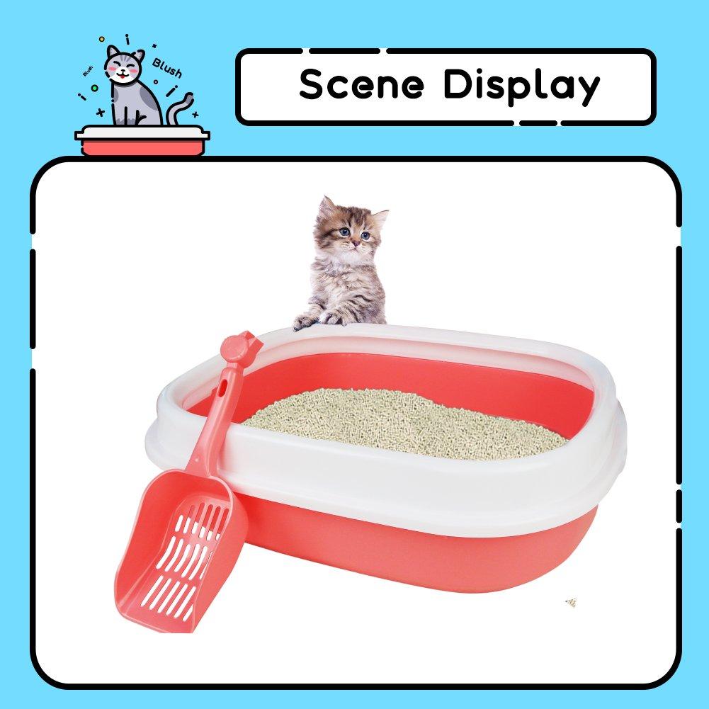 Arenero Gatos Inodoro Bandeja Higienica Gatos y Mascotas Incluye Pala, Abierto, Plástico Suave, 47 * 39 * 13cm, Rosa: Amazon.es: Productos para mascotas