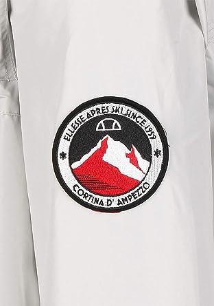 ellesse Quarter Zip Overhead Jacket Light Grey XS: