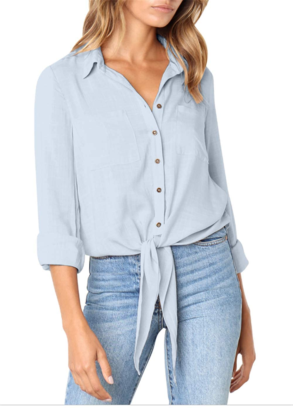 7888af309f Top 10 wholesale Linen Button Down Womens - Chinabrands.com