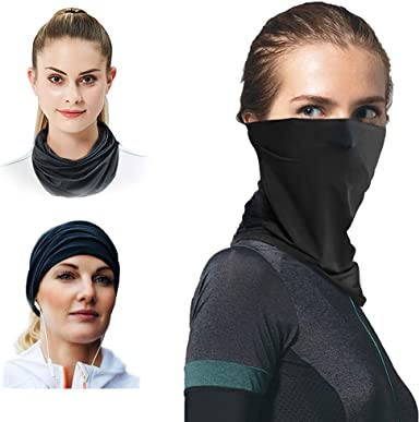 Women Running Face Mask for Riding, Neck Gaiter Scarf as Face Cover for UV  Protection Breathable Black at Amazon Women's Clothing store