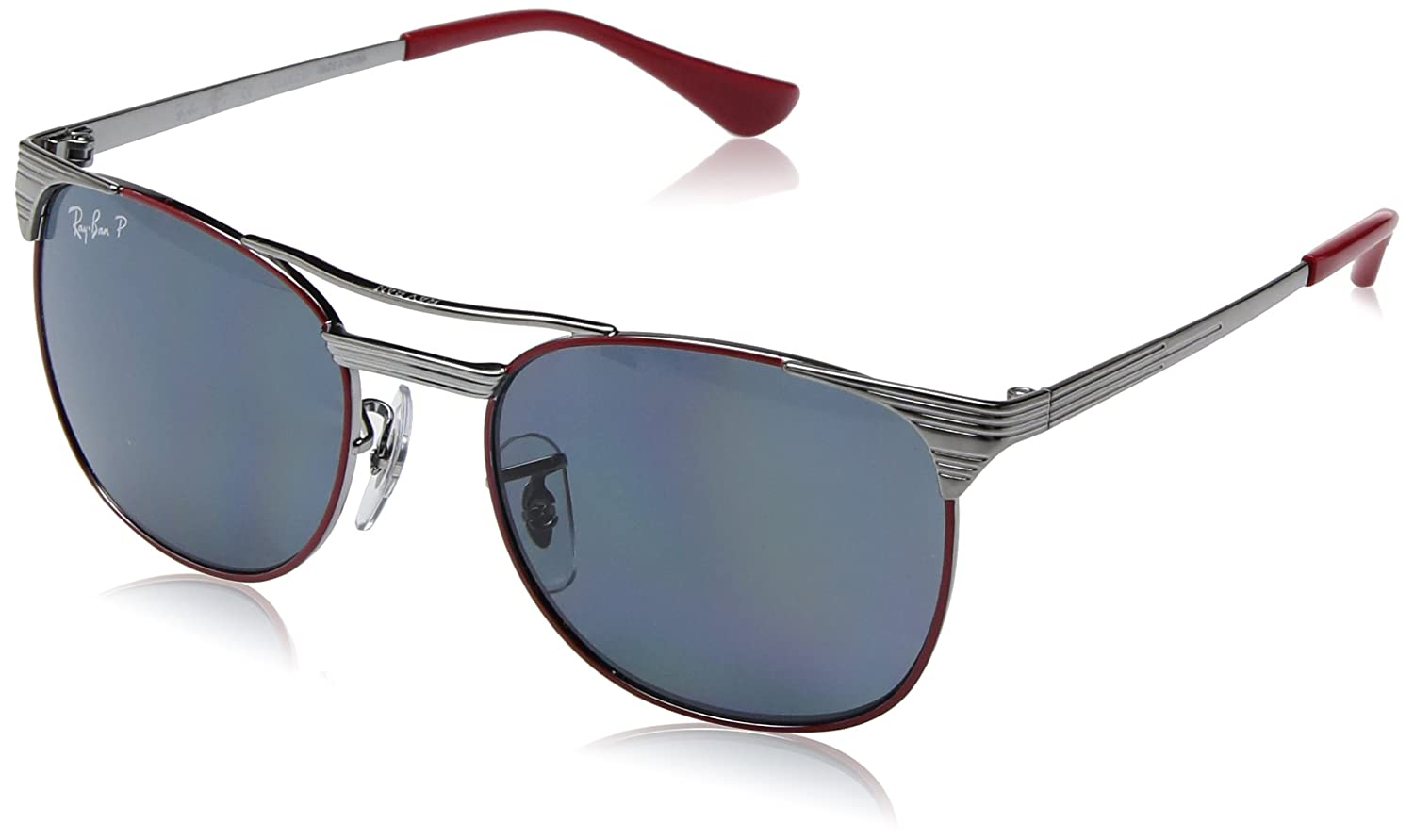 RAY-BAN JUNIOR 9540s Gafas de Sol, Gunmetal Top Red, 49 Unisex-Niño