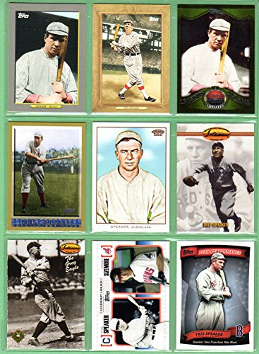 Tris Speaker (9) Card Baseball Lot #1 (Red Sox) - Diego Club Tri San