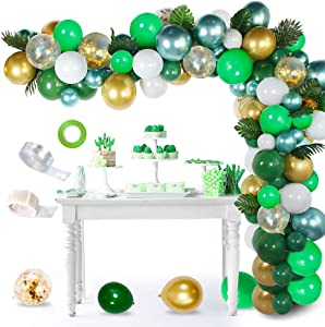 Balloon Garland Kit White & Gold 110 Pcs Latex Balloons Arch Garland Pack for Wedding Baby Shower Bridal Shower Birthday Party Anniversary Graduation Centerpiece Backdrop Decorations