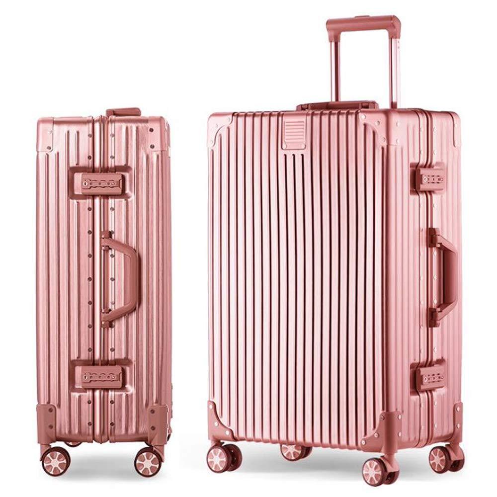 スーツケースビジネスミュートトロリーケースユニバーサルホイール便利なスーツケース搭乗荷物、4ユニバーサルホイール 42*25*63cm B07TSWLQTB Rose gold