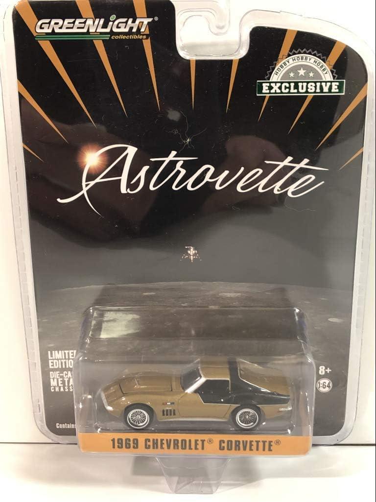 1969 Chevrolet Corvette Gold Astrovette (Nasa Apollo Xii Astronaut'S) Hobby Exclusive 1/64 Diecast Model Auto durch Greenlight 30073