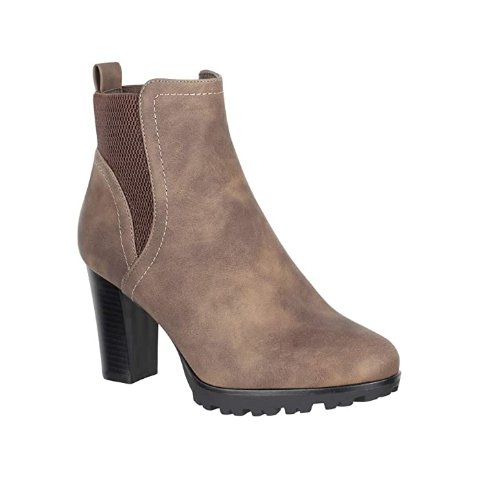 Elara Ankle Boots | Botines Moderna Mujer | Block tacón Plateau ...