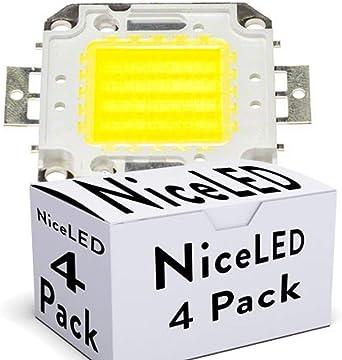 Greenice | Pack 4 LEDs High Power COB30 50W 5000Lm 50.000H ...