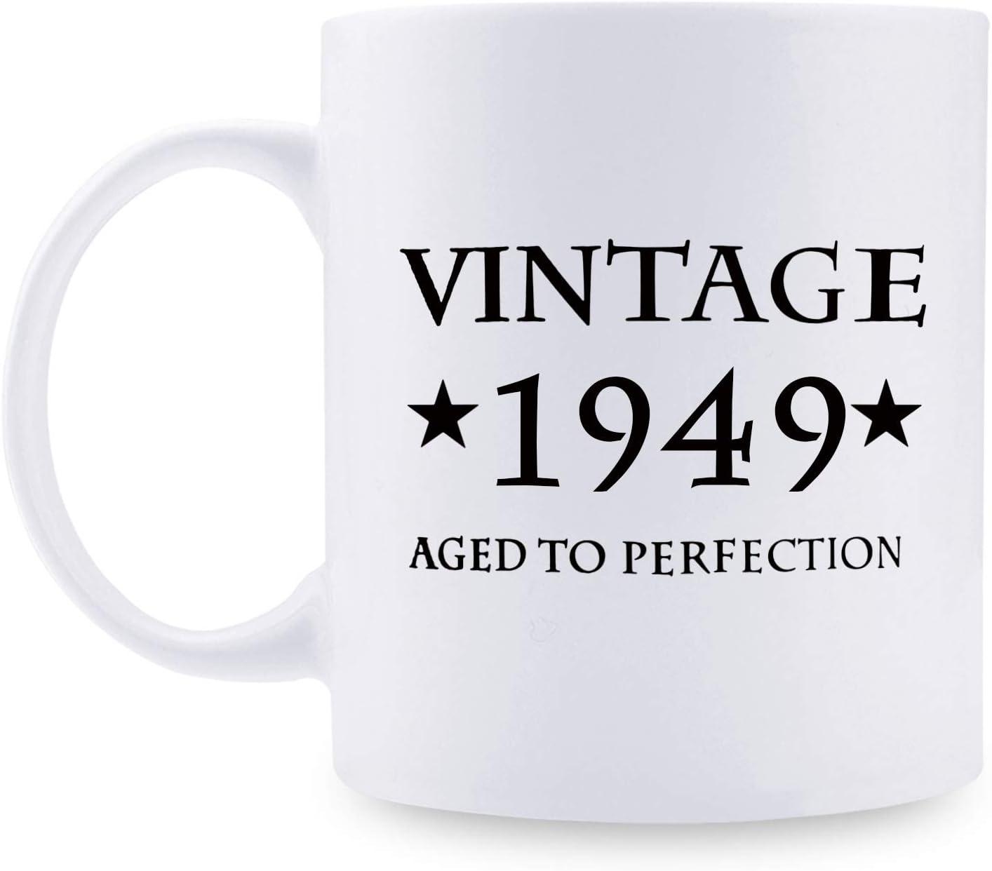 Regalos de 70 cumpleaños para mujeres, regalos de cumpleaños de 1949 para mujeres, 70 años de edad, regalos de cumpleaños para mamá, esposa, amiga, hermana, ella, colega, compañero de trabajo – 11 oz
